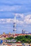 Tour de TV à Prague, République Tchèque Images stock