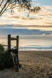Tour de vélo à la plage Image stock