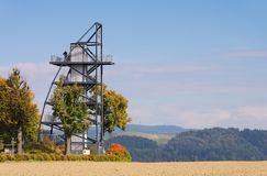Tour de visionnement de Rathmannsdorf Images libres de droits
