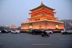 Tour de Xi'an Bell, Chine Image libre de droits