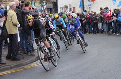 Tour de Yorkshire 2016. Riders in Tour de Yorkshire at Stokesley Royalty Free Stock Image