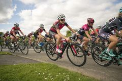 Tour De Yorkshire 2018 Stage 2 Womens Race, Adwick upon Dearne, Stock Image