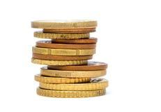 Tour des pièces de monnaie Photos libres de droits