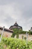 Tour du château d'Esslingen AM le Neckar la grande, Allemagne photo stock