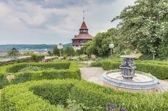 Tour du château d'Esslingen AM le Neckar la grande, Allemagne image libre de droits