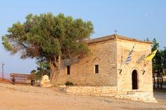 Tour du grec ancien au coucher du soleil. photo libre de droits