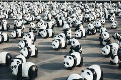 Tour du monde de 1.600 pandas à Bangkok, Thaïlande Photographie stock