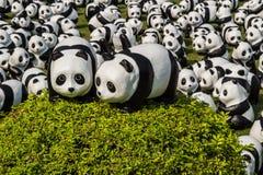 Tour du monde de 1600 pandas Images stock