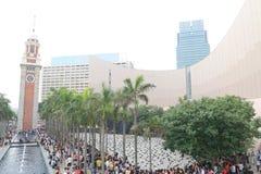 Tour du monde de 1600 pandas en Hong Kong Images libres de droits
