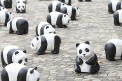 Tour du monde de 1600 pandas en Hong Kong Photo stock