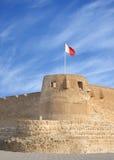 Tour du sud de fort d'Arad avec l'ouverture de bec de perroquet Photographie stock libre de droits