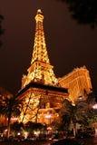 Tour Eiffel à Vegas image stock