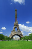 Tour Eiffel. From le Jardin to Champ to Mars Royalty Free Stock Photos