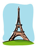 Tour Eiffel. Illustration of the Eiffel Tower in Paris Stock Photos