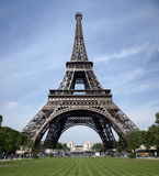 Tour eiffel. Paris, France with clear blue sky in tha background, green grass in front Stock Image