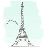 Tour Eiffel vector. Illustration of Eiffel tower isolated + vector eps file Royalty Free Stock Photo