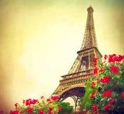 Tour Eiffel au lever de soleil Photos stock