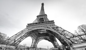 Tour Eiffel in black and white Royalty Free Stock Photography