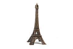 Tour Eiffel d'isolement sur le blanc Image libre de droits