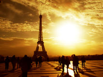 Tour Eiffel de matin - Paris Images stock