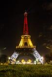 Tour Eiffel de nuit Photographie stock