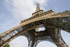 Tour Eiffel de Paris. Down of Eiffel tower of Paris Stock Photography