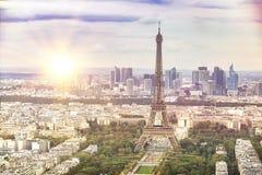 Tour Eiffel de soirée Photo libre de droits