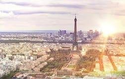 Tour Eiffel de soirée Photos libres de droits