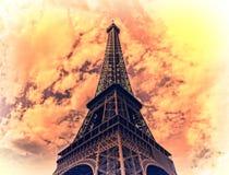 Tour Eiffel de vintage Image libre de droits