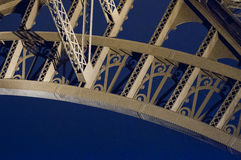 Tour Eiffel detail at night Royalty Free Stock Photos