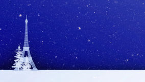 Tour Eiffel en hiver Paris images libres de droits
