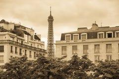 Tour Eiffel en mode de vintage Photo stock