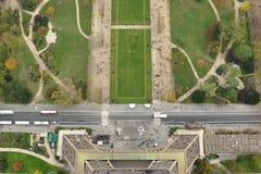 Tour Eiffel et champ de vue d'oeil d'oiseau de Mars Photos libres de droits