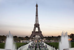 Tour eiffel at the evening - Paris Royalty Free Stock Photo