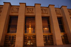 Tour Eiffel hublots de Trocadreo \ les 'de s Photos stock