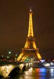 Tour Eiffel la nuit Image libre de droits