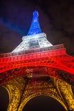 Tour Eiffel la nuit Images stock