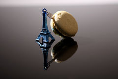 Tour Eiffel and macaron Stock Photo