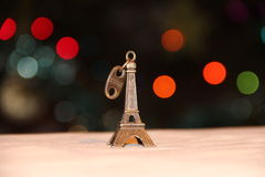 Tour Eiffel miniature, Paris Photographie stock