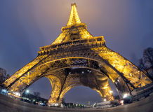 Tour Eiffel at night Stock Photos