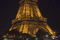Tour Eiffel at night Stock Image