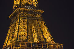 Tour Eiffel at night Royalty Free Stock Photo