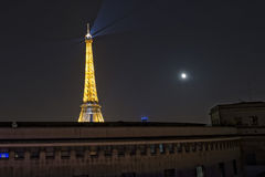 Tour Eiffel at night Stock Photography