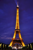 Tour Eiffel night view Royalty Free Stock Photography