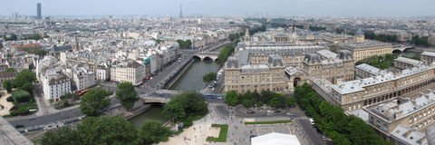 Tour Eiffel from Notre dame royalty free stock photo