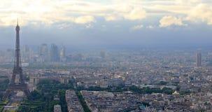 Tour Eiffel panorama stock video