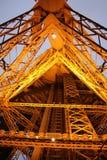 Tour Eiffel par nuit, Paris Photos libres de droits