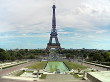 Tour Eiffel. Paris. A view of the Eiffel Tower in Paris (France) as seen from the Tricadero palace royalty free stock images