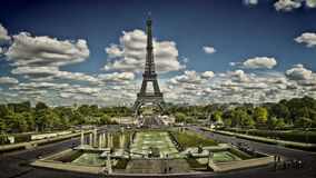 View of Paris from the Trocadero. A view of Paris from the Trocadéro with the Eiffel Tower royalty free stock photography