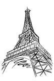 Tour Eiffel, Paris, France illustration de vecteur